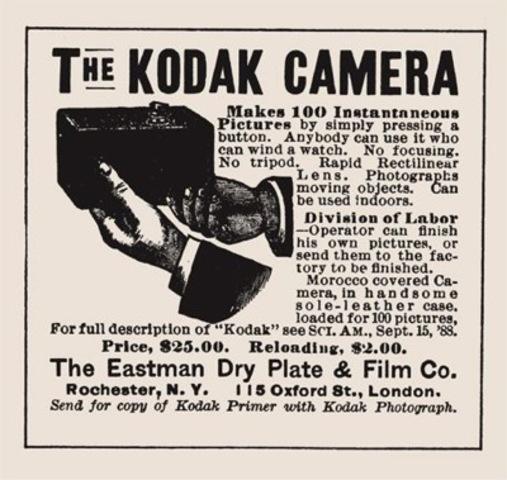 Advertisement for the Kodak camera