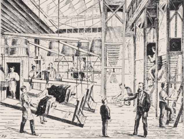 Illustration of Moss's photographic department, from Scientific American