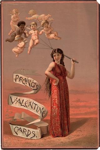 Louis Prang, Valentine card,