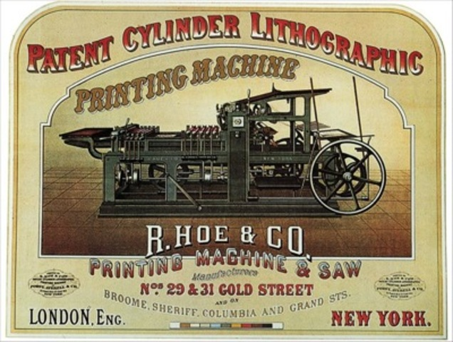 Forst, Averell & Co., poster for the Hoe printing press