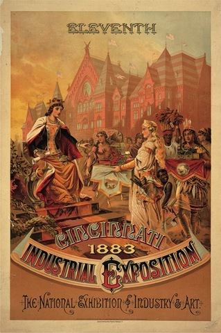 Krebs Lithographing Company, poster for the Cincinnati Industrial Exposition