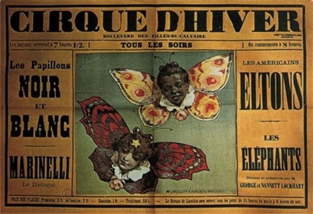 """Morris Père et Fils (letterpress printers) and Emile Levy (lithographer), """"Cirque d'hiver"""" poster"""
