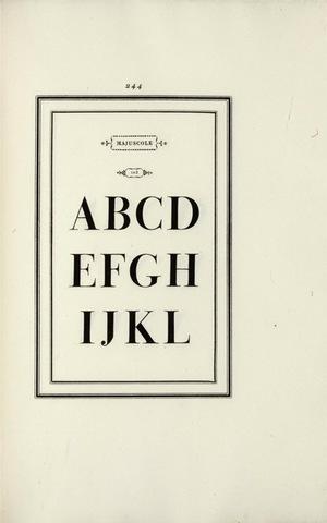 Giambattista Bodoni, page from Manuale tipografico, 1818.