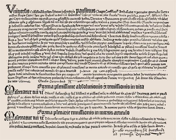 5–12. Johann Gutenberg, thirty-one-line letters of indulgence,