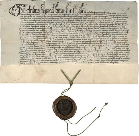 5–13. Handwritten letter of indulgence,