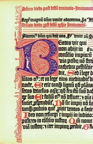 5–15. Johann Gutenberg, page 266 from the Gutenberg Bible,