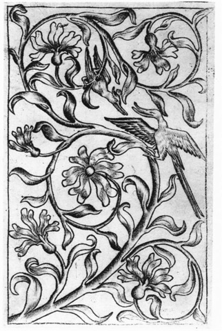Copperplate Engraving/ 5–19. The Master of the Playing Cards, The Three of Birds,