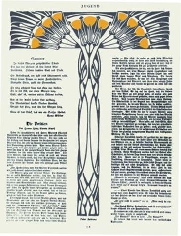 Peter Behrens, page design for Jugend
