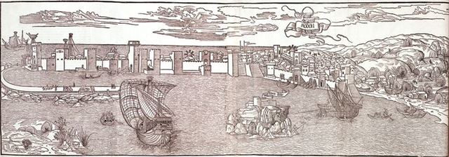 6–7. Erhard Reuwich (illustrator), illustration from Peregrinationes in Montem Syon (Travels in Mount Zion),
