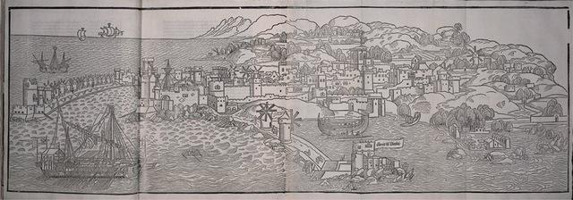 6–8. Erhard Reuwich (illustrator), illustration from Peregrinationes in Montem Syon,