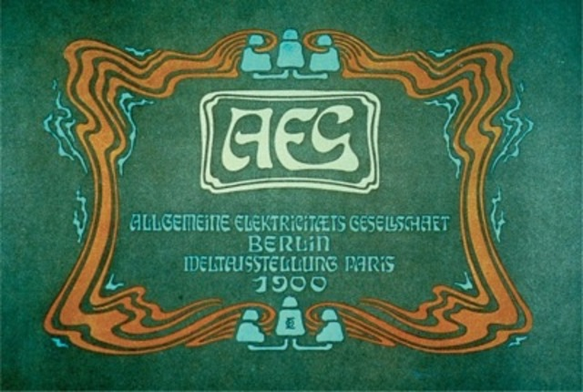 Otto Eckmann, cover for an Allgemeine Elektrizitäts-Gesellschaft catalogue