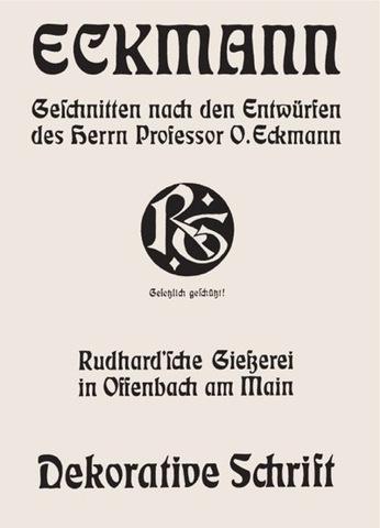 Otto Eckmann, type specimen for Eckmann Dekorative Schrift
