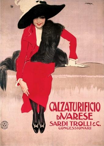 Leopoldo Metlicovitz, Calzaturificio di Varese poster
