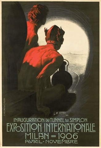 This classic Metlicovitz poster exudes an optimistic elegance.