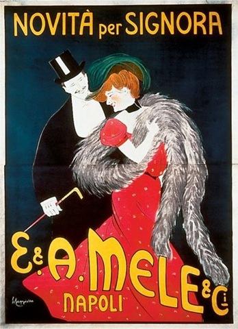 Leonetto Capiello, E. & A. Mele & C. poster