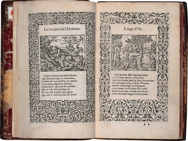 7–47. Jean de Tournes (printer) and Bernard Salomon (illustrator), pages from Ovid's La vita et metamorfoseo (Metamorphoses), 1559.