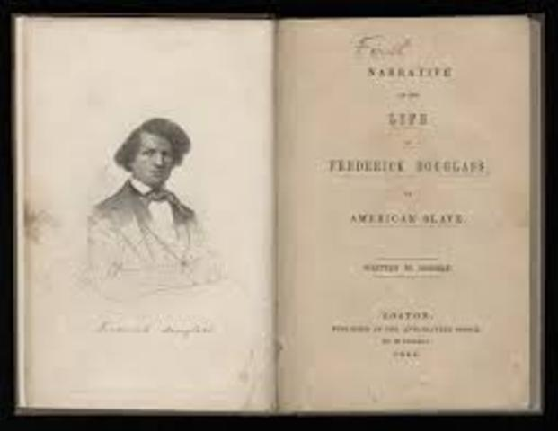 Publishes Narrative of the Life of Frederick Douglass