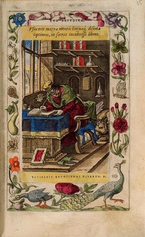 7–49. Christophe Plantin, page from Humanae Salutis Monumenta, by Arius Montanus,