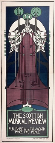 Charles Rennie Mackintosh, poster for the Scottish Musical Review