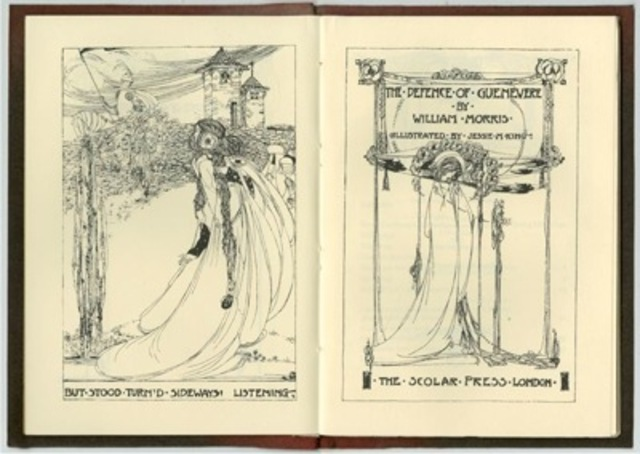 Jessie Marion King, double title pages for William Morris's The Defence of Guenevere