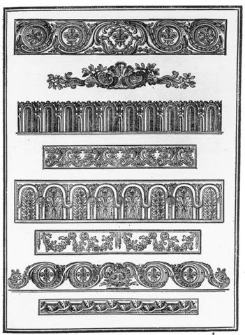 8–21. Louis René Luce (designer) and Jean Joseph Barbou (printer), ornaments page from Essai d'une nouvelle typographie,