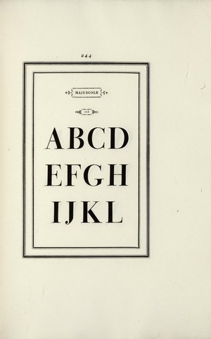 8–24. Giambattista Bodoni, page from Manuale tipografico, 1818.