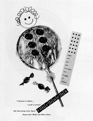 Paul Rand, Ohrbach's advertisement,