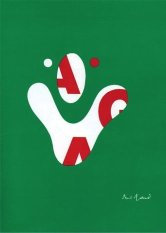 Paul Rand, poster for the American Institute of Graphic Art,