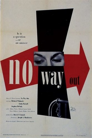 Paul Rand, poster for the film No Way Out,