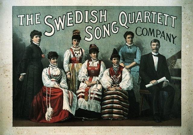 "9–52. John H. Bufford's Sons, ""Swedish Song Quartett"" poster, 1867."