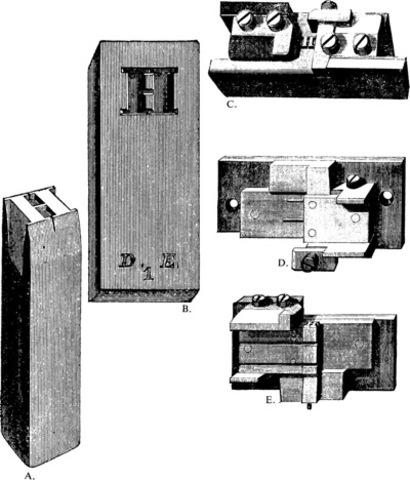 Gutenberg's system for casting type