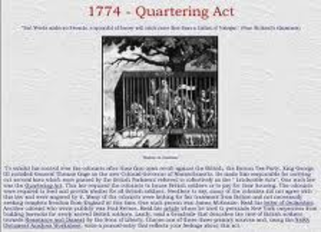 Quartering Act of 1774
