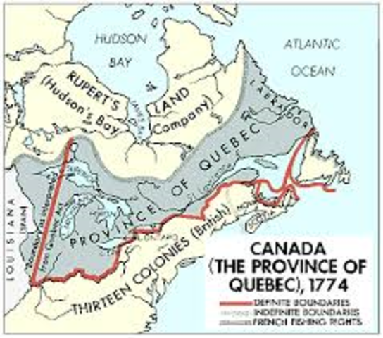 """Quebec Act; """"Intolerable Act"""""""