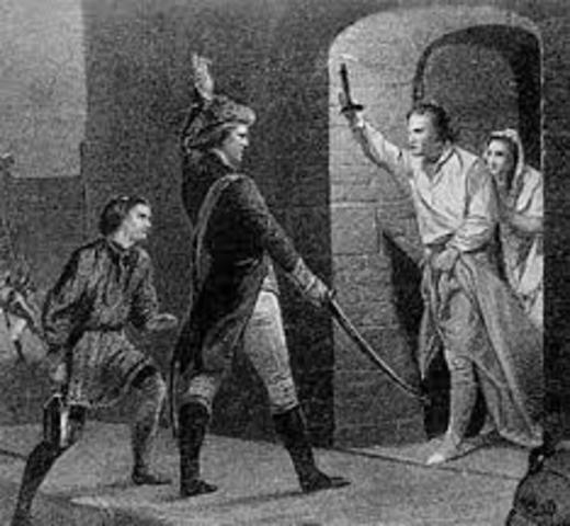 Ethan Allen and the Green Mountain Boys seize Fort Ticonderoga