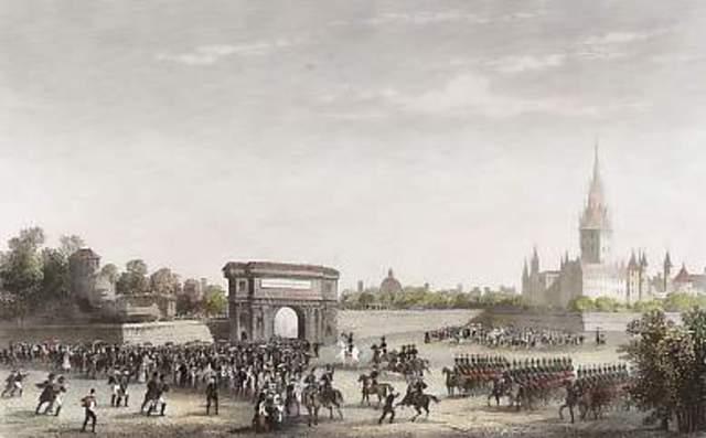 Napoleon enters Milan