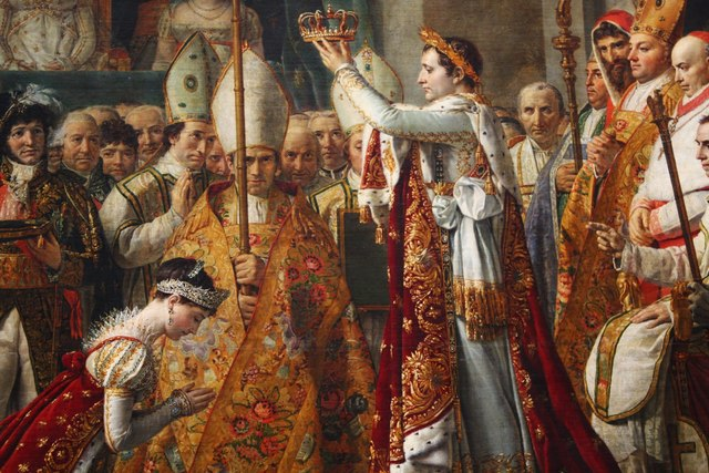 Napoleon and Josephine's coronation takes place at Notre Dame