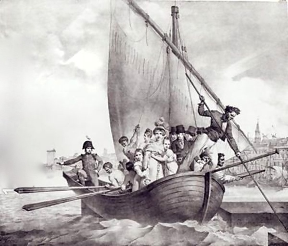 Accused of being too pro-French, the Bonaparte's flee from Corsica, and arrive in Toulon