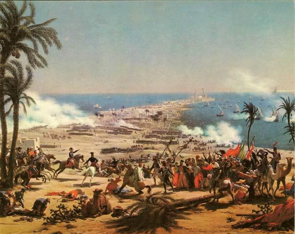 Napoleon defeats the Turks at Aboukir
