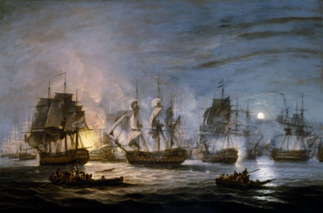 Nelson destroys French fleet in the Battle of the Nile