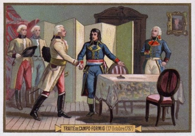 Treaty of Campo Formio ends the first Italian Campaign