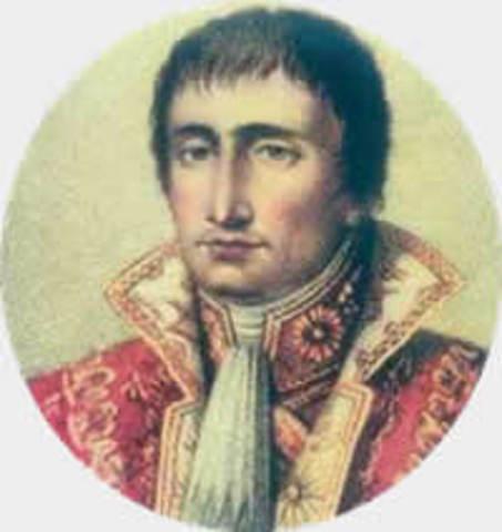 Joseph (Guiseppe) Bonaparte born st Corte, Corsica