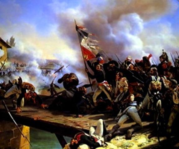 Napoleon wins the Battle of Arcola