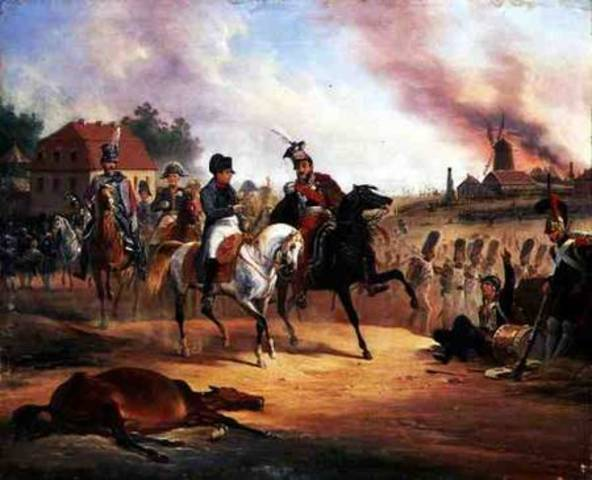 Napoleon's defeat at the Battle of Leipzig.