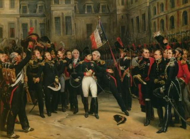 Treaty of Fontainebleau (1814) Napoleon agrees to exile in Elba