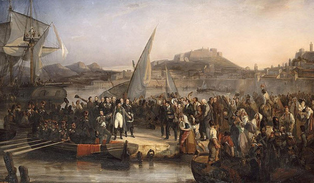 Napoleon leaves Elba, and lands in the South France