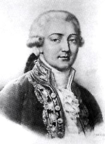 Birth of Carlo Buonaparte at Ajaccio, Corsica
