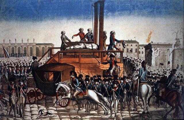 King Louis XVI guillotined