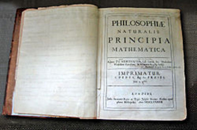 "Isaac Newton publishes his ""Principia Mathematica"""