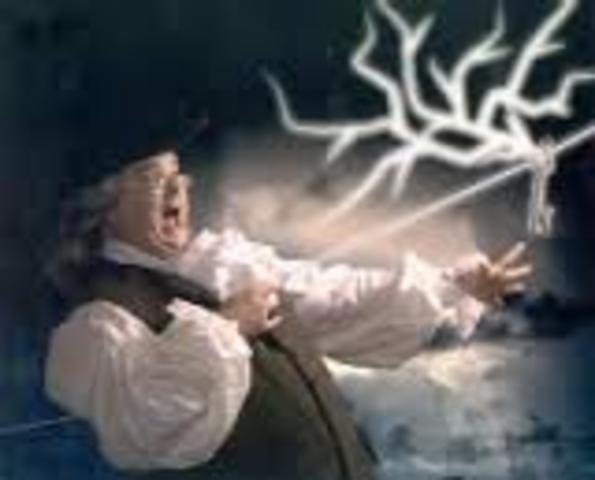 """Benjamin Franklin - """"Lightning is Electricity """""""