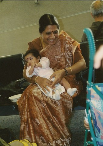 first trip to atlanta to drop my grandmother at the airport to go back to India